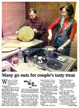 Peggy & Leon making the Peanut Brittle